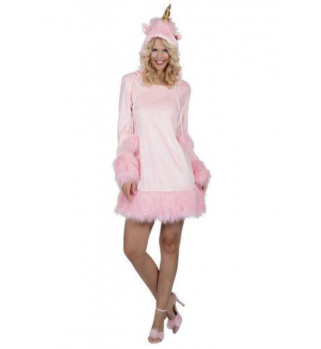 Roze Droom Van Een Eenhoorn Fabeldier Vrouw Kostuum
