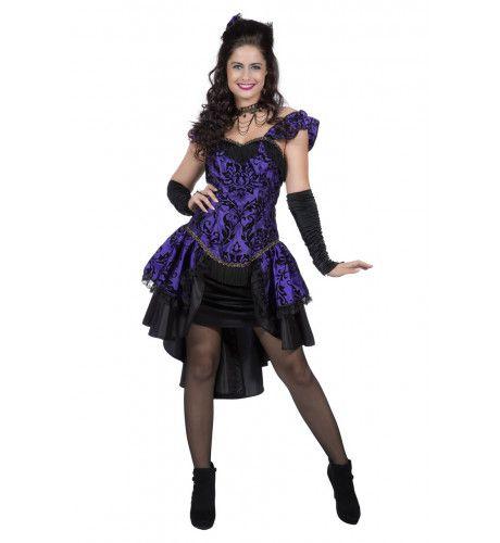 Burlesque Can Can Danseres Moulin Rouge Vrouw Kostuum