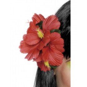 Hawaiiaanse Bloemenclip Rood