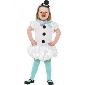 Schattige Sneeuwpop Meisje Kostuum