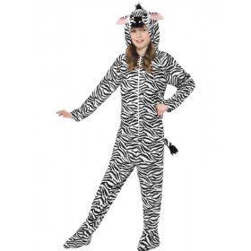 Aaibare Zebra Kind Kostuum