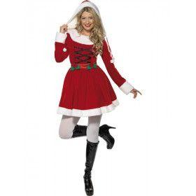 Miss Santa Klassiek Vrouw Kostuum