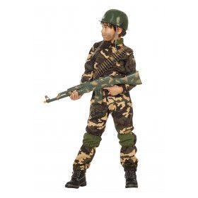 Desert Storm Commando Camouflage Kostuum Bruin Jongen