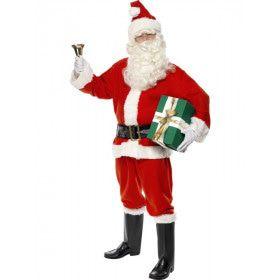 Rode Kerstman Santa Deluxe Kostuum Man
