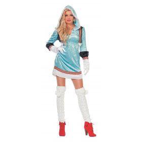 IJskoude Hete Eskimo Blauw Vrouw Kostuum