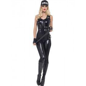 Super Strakke Swat Agent Vrouw Kostuum