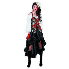 Steampunk Pirate Black Roze Vrouw Kostuum