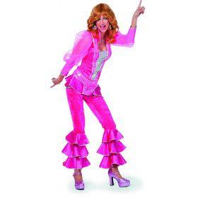 Roze Abba Mamma Mia Luxe Vrouw Kostuum