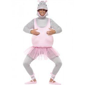 Hippo Ballerina Nijlpaard Man Kostuum