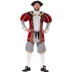 Engelse Koning Henry Vii Luxe Man Kostuum
