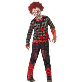 Luxe Zombie Clown Jongen Kostuum