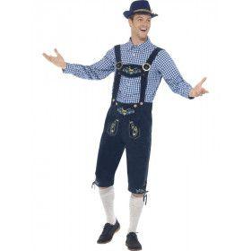 Luxe Beierse Lederhosen Met Hemd Rutger Man Kostuum