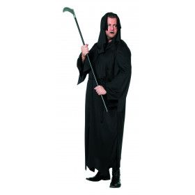 Grimmige Zwarte Dood Man Plus Size Kostuum