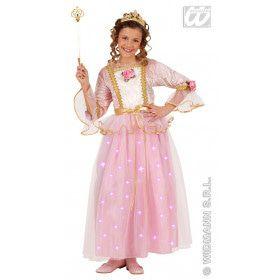 Roze Prinses Fiberoptisch Ms Pink Meisje Kostuum
