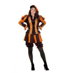 Oranje Gestreepte Piet Dames Vrouw Kostuum