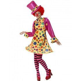 Clown Dame Vrouw Kostuum