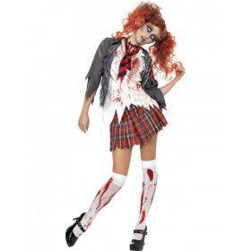 Horror Schoolmeisje Vrouw Kostuum