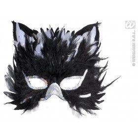 Oogmasker Kat Met Veren