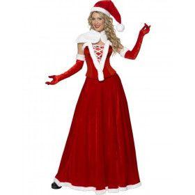 Chique Kerstvrouw Vrouw Kostuum