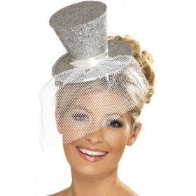 Mini Glitter Hogehoed Zilver Vrouw
