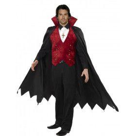Vampier Man Lange Cape Kostuum