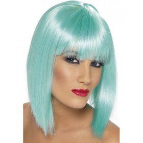 Blauwe Neon Glam Pruik