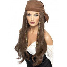 Vrouwen Piraten Pruik Met Bandana