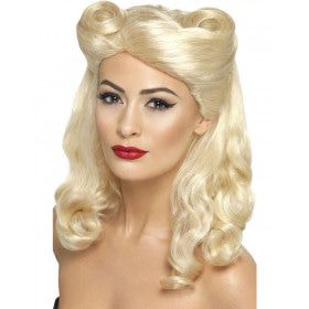 40s Pin Up Pruik Blond