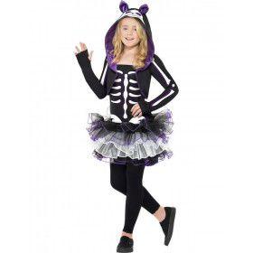 Kind Skelet Kat Kostuum Meisje