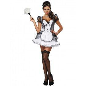 Luxe Frans Spannend Kamermeisje Vrouw Kostuum