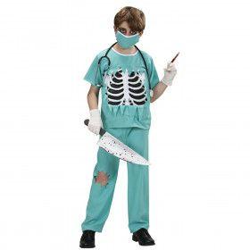Dokter Snijgraag Chirurg Halloween Jongen Kostuum