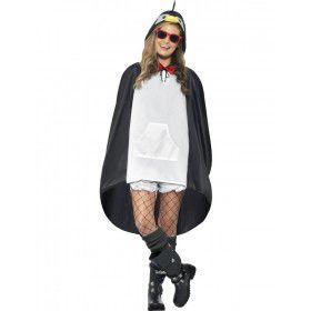 Grappige Pinguin Poncho Kostuum