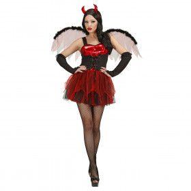 Sexy Duivel Met Vleugels Vrouw Kostuum