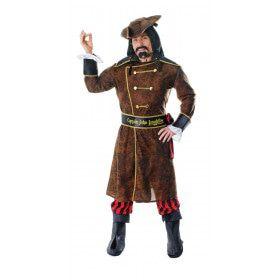Zeerover Kapitein Long John Man Kostuum