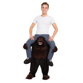 Op De Rug Van Een Bokito Gorilla Man Kostuum