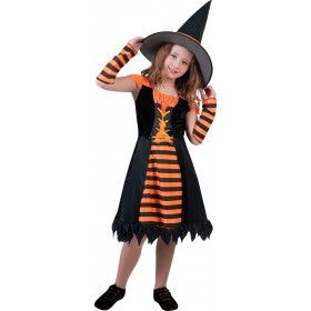 Oranje Heks Harrarira Meisje Kostuum