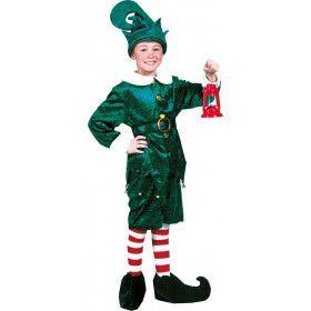 Amerikaanse Kerst Elf Jongen Kostuum