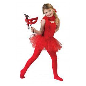 Rode Ballerina Belicia Meisje Kostuum