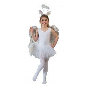 Witte Ballerina Belicia Meisje Kostuum