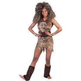 Oerie De Holbewoner Dame Vrouw Kostuum
