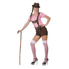 Roze-Wit Tiroler Hemd Vrouw