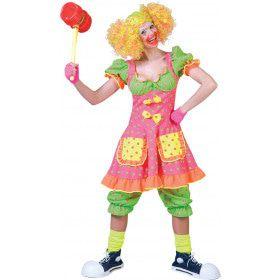 Clown Fluorino Vrouw Kostuum