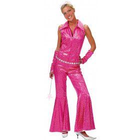 Boogie Nights Roze Jumpsuit Vrouw Kostuum