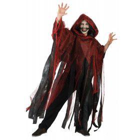 Rode Spookachtige Cape Kostuum