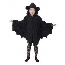 Snoezelige Zwarte Cape Kind Kostuum