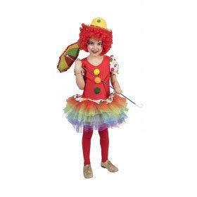 Pierrot Clown Meisje Kostuum