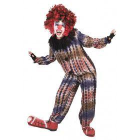 Krankzinnige Griezelige Horror Clown Jongen Kostuum