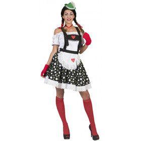 Ischgl Tiroler Edelweiss Rok En Bretels Vrouw Kostuum