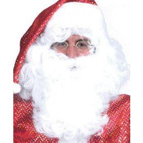 Woeste Baard En Pruik Kerstman