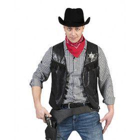 Cowboy Knallen Maar Vest Zwart Man